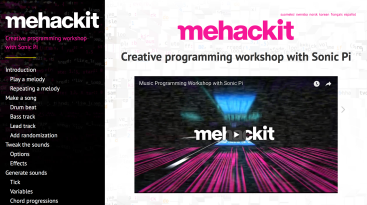 Go to http://sonic-pi.mehackit.org, and have your party this Friday night!