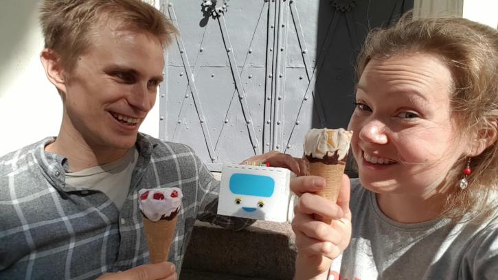 Cheers with Ice Creams! Good job Joy!